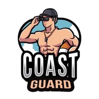 Modello di logo della guardia costiera
