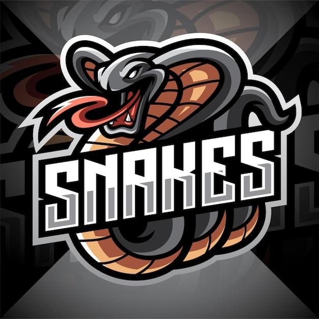 Logo della mascotte di cobra esport