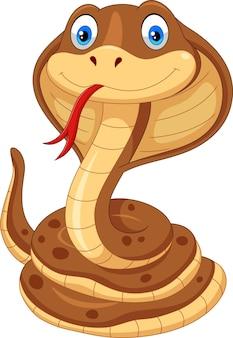 Fumetto del serpente cobra isolato su bianco