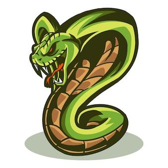 Illustrazione vettoriale di cobra isolato