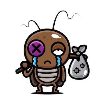 Cartone animato scarafaggio uscire