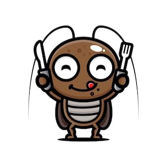 Lo scarafaggio si sta preparando per il cibo