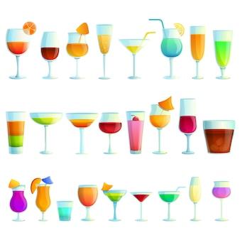 Set di icone di cocktail