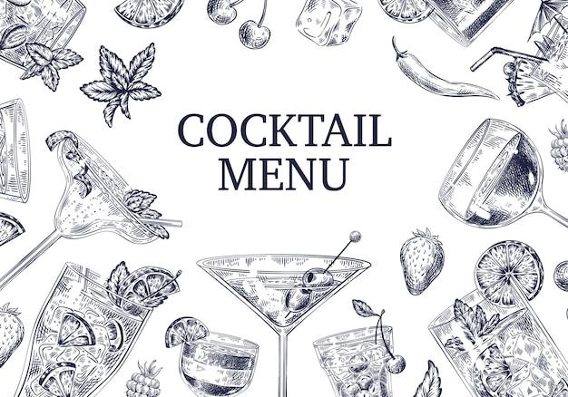 Sfondo del menu di cocktail