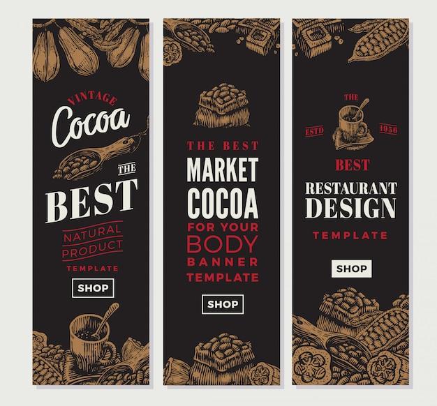 Banner verticale di cacao