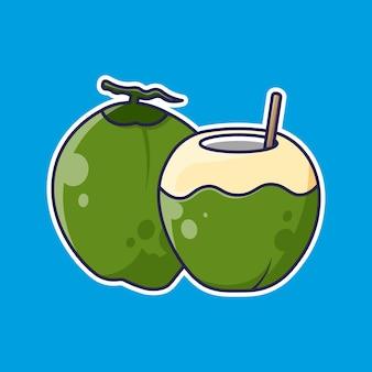 Frutta di cocco design semplice