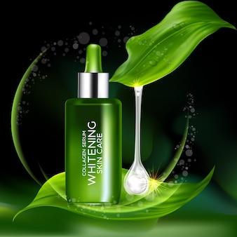 Coenzima collagene concetto di siero cosmetico per la pelle