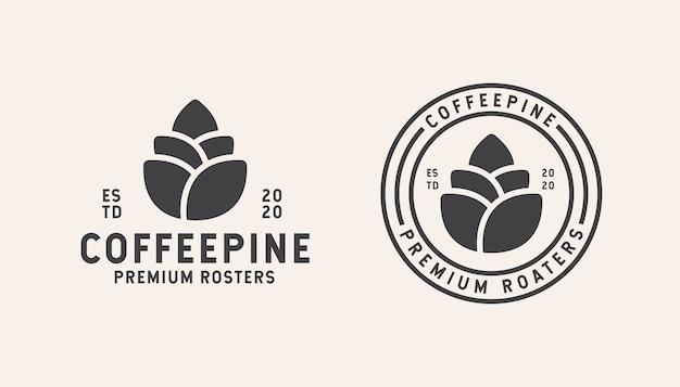 Coffe shop logo design modello isolato su bianco