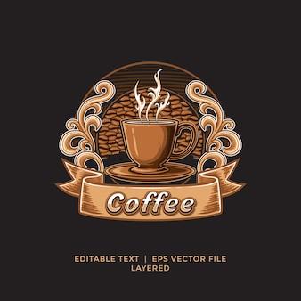 Modello di logo del negozio di caffè