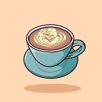Vettore del fumetto di arte del caffè isolato