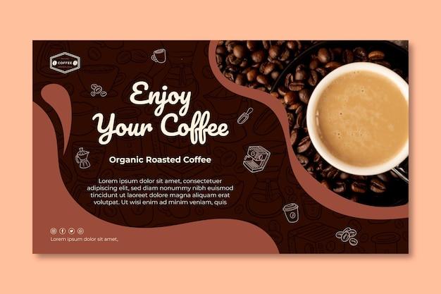 Modello di banner di caffè