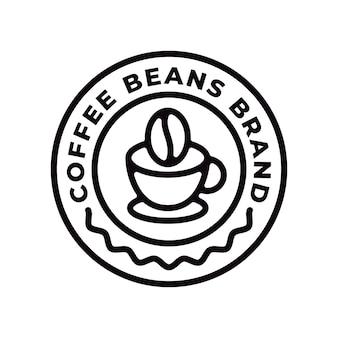 Logo del marchio del chicco di caffè