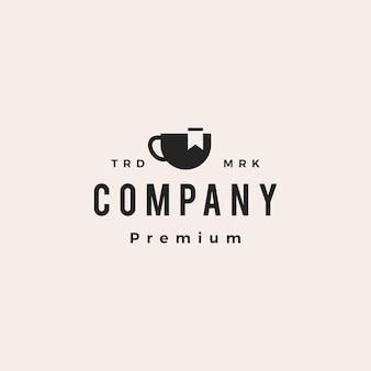 Segnalibro caffè hipster logo vintage icona illustrazione vettoriale
