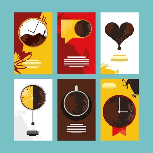 Set di banner per la pausa caffè