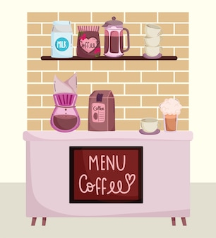 Metodi di preparazione del caffè, frappe e tazza della macchina del gocciolamento del contatore della caffetteria