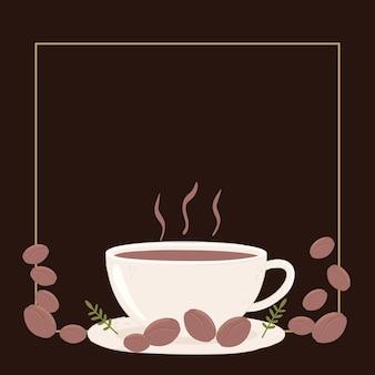 Tazza di caffè e chicchi