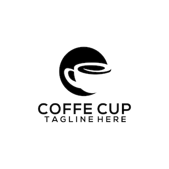 Modello di logo della tazza di caffè per caffè bar e ristorante. vettore di concetto di logo di caffè aziendale