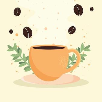 Tazza di caffè e semi