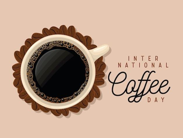 Cartello del giorno del caffè