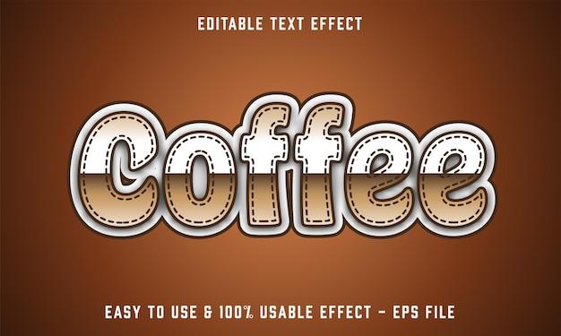 Giorno del caffè effetto di testo modificabile