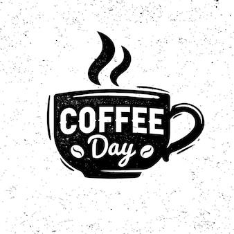 Logo retrò del giorno del caffè