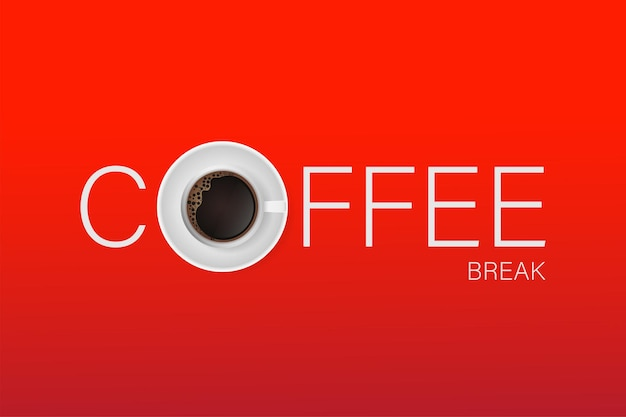 Banner per la pausa caffè