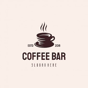 Logo design di bevande al caffè
