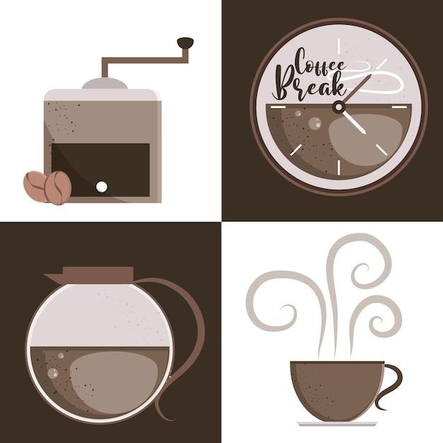 Disegni di bevande al caffè
