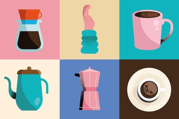 Bevande al caffè e mano