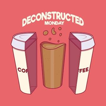 Caffè . energia, motivazione, ispirazione, concetto di design positivo