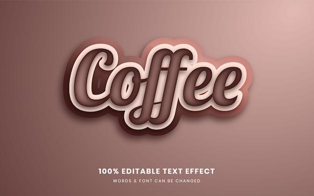Effetto testo completamente modificabile del caffè