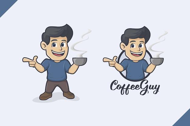Logo del ragazzo del caffè