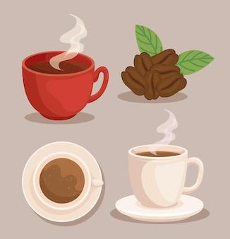 Insieme dell'icona del caffè