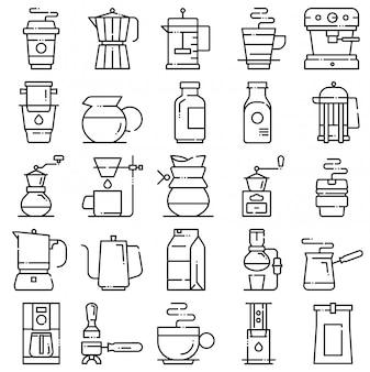 Set di icone di caffè