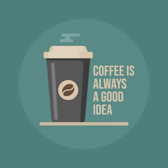 Il caffè è sempre una buona idea. tazza di caffè.