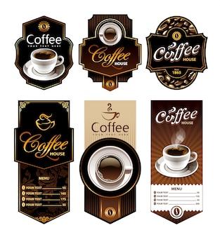 Collezione etichette di caffè