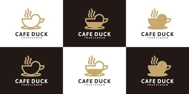 Ispirazione per il design del logo del caffè, logo per caffè, caffè e altro