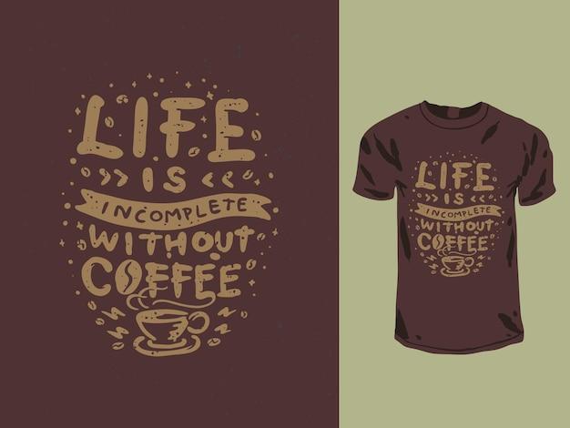 T-shirt tipografia amante del caffè