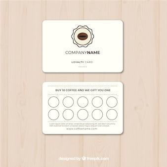 Modello di carta fedeltà del caffè