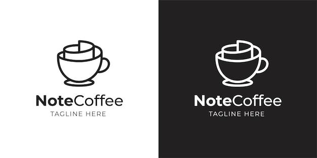 Ispirazione per il design di caffè e note
