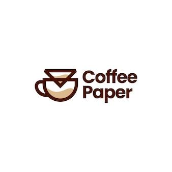 Illustrazione dell'icona di vettore del logo del gocciolatore del filtro di carta del caffè