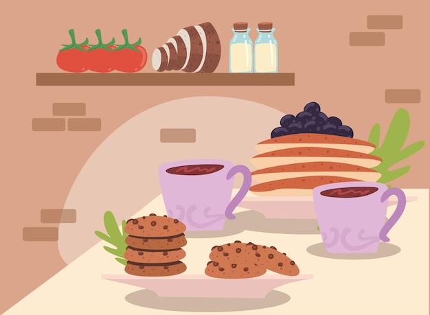 Caffè e prodotti di pasticceria