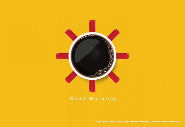 Illustrazione dei flayers della pubblicità del manifesto del caffè