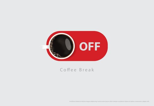 Illustrazione delle alette di filatoio della pubblicità del manifesto del caffè