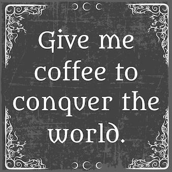 Citazioni di caffè Vettore Premium