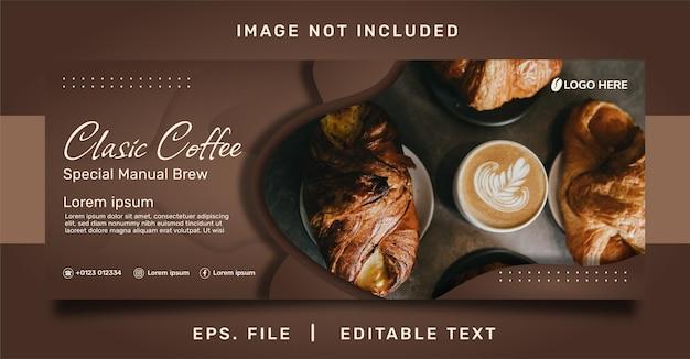 Modello di vendita e promozione di banner di caffetteria