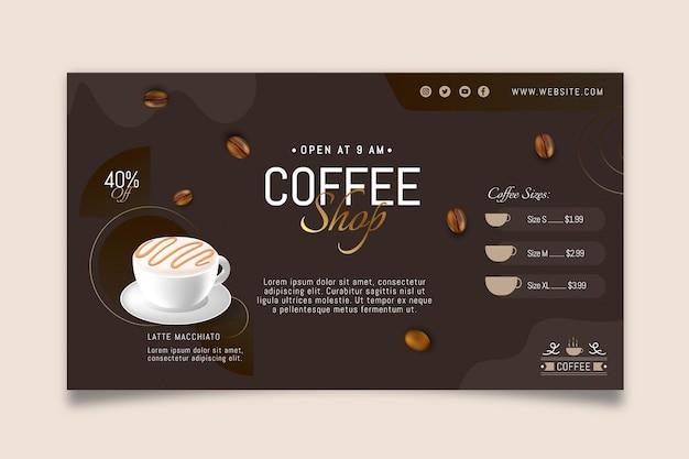 Modello di banner di caffetteria