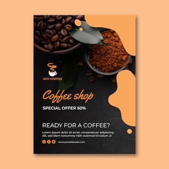 Volantino della caffetteria verticale