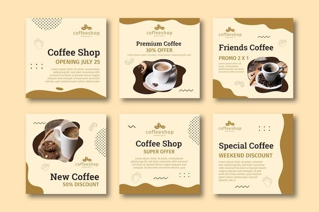 Collezione di post instagram caffetteria