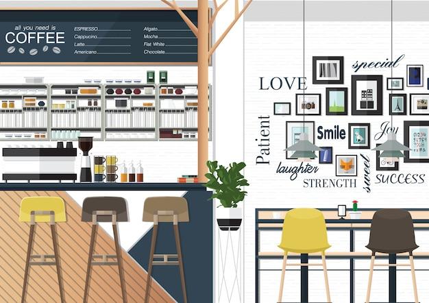 Coffee shop interiors
